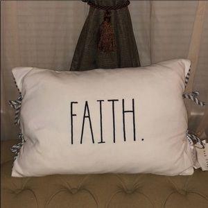 🆕 Rae Dunn FAITH Accent Pillow